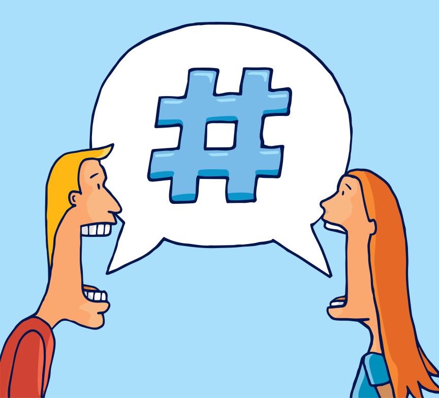 מה השימוש של hashtag